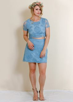 Chantelle Lace Crop Top + Skirt