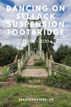 footSTEPS is a blog that follows Gemma, a professional dancer, as she creates short dance films on her travels around the world. It's not easy dancing on a suspension bridge that bounces with every move you make... but I gave it a shot at Sellack Suspension Footbridge in Herefordshire, UK.