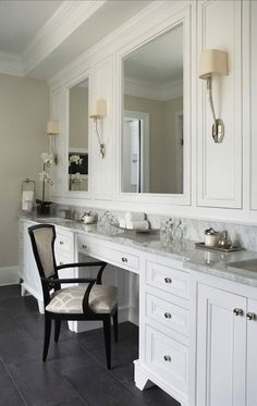 Linda McDonald design. Love the cabinet storage.