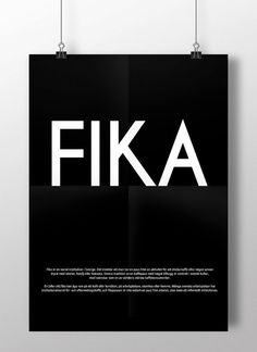 FIKA Swedish or English text. Luxury poster by ilovedesignlondon