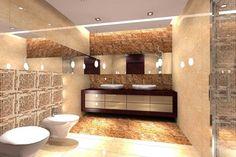 architekt wnętrz warszawa MKdezere - Projekt łazienki - marmur