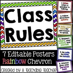 These classroom rules posters are the perfect addition to your classroom decor! Click the pic to see what's included!