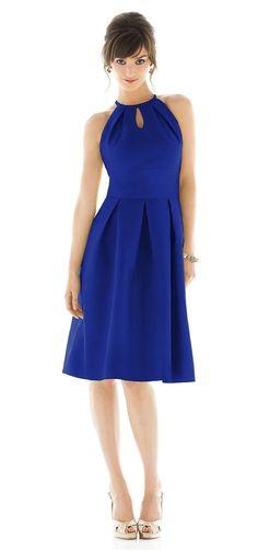 Alfred Sung Bridesmaid Dresses - Style D449 - Dupioni | Weddington Way  |  www.burchandhatfield.com
