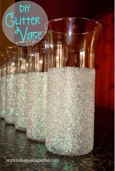 Diy Glitter Vases