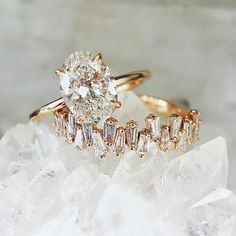 FESTIVAL BRIDES | 15 Engagement Ring Instagram Accounts That You Need to Know About, incredible freeform baguette diamond ring by Trabert Goldsmiths