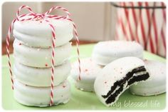 Peppermint Bark Cookies, via My Blessed Life