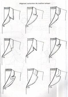 Foto: Coat Patterns, Dress Sewing Patterns, Clothing Patterns, Skirt Patterns, Fashion Drawing Tutorial, Mode Turban, Sewing Collars, Sewing Blouses, Collar Designs