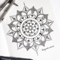 "This morning's drawing // ""The Lysandre Mandala"" www.fortyonehundred.co.nz…"
