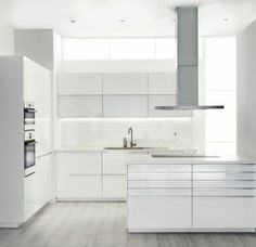 My very idea of a perfect minimalist-all-white dream cuisine. ❤️ IKEA's New Kitchen Cabinet System: SEKTION White Ikea Kitchen, White Kitchen Cabinets, Dining Room Combo, New Kitchen, White Modern Kitchen, Ikea New Kitchen, Modern White Kitchen Cabinets, Ikea Decor, New Kitchen Cabinets