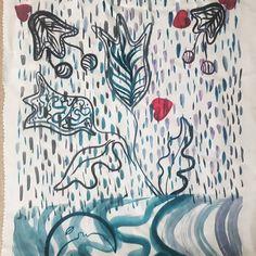 Tulips & Hearts 🌷💙🌷 . . . #heattransferprinting #textiledesign #floralillustration #hcgordon Tulips, Floral Illustrations, Textile Design, Curtains, Shower, Prints, Rain Shower Heads, Blinds, Tulip