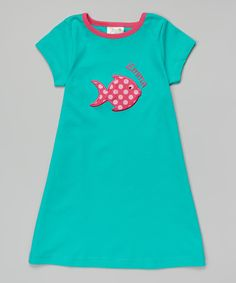 Love this Atlantic Fish Personalized A-Line Dress - Toddler & Girls by Patty's Collection on #zulily! #zulilyfinds