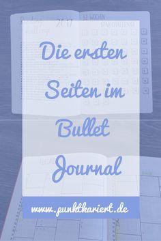 Ideen für die ersten Seiten deines Bullet Journals