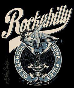 Rockabilly, old school, rebel rules Rockabilly Artwork, Rockabilly Rules, Rockabilly Fashion, Rockabilly Makeup, 50s Makeup, Crazy Makeup, Makeup Art, Psychobilly, Retro Poster