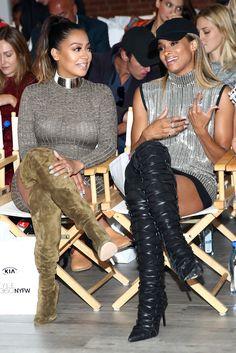 Thigh boot girls La La Anthony and Ciara