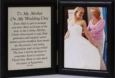 5x7 Hinged TO MY MOTHER ON MY WEDDING DAY Poem ~ Black Picture/Photo Frame ~ A Wonderful Gift Idea for the MOTHER OF THE BRIDE! PersonalizedbyJoyceBoyce.com http://www.amazon.com/dp/B005H3B554/ref=cm_sw_r_pi_dp_avBXtb0VHHY4PKAT