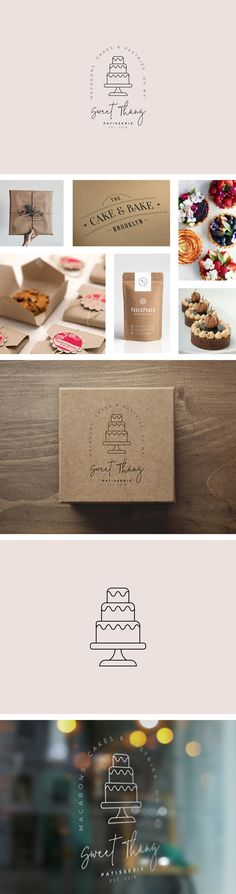 Sweet Thang Patisserie - logo design / brand identity