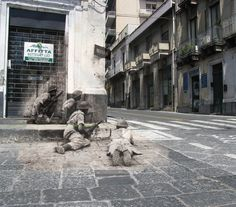 Ghosts of war - Corner covered, 1943, Acireale, Sicily - Then & Now combined    I have combined historical photos  with photos showing as the same location is today.  I started doing this years ago as a research tool, now I mostly do it because of my passion for history and fascination with the subject.