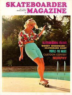 The first thing one notices about this design is the color scheme. Because the picture is from another era, as it portrays the very first professional female skateboarder, all the colors are vibrant and smooth. The title of the magazine is a bright pink that really grabs the reader's attention, and the picture of the skater is perfectly rendered. This mastery of blending design with image is something I will keep in mind for my own designs.
