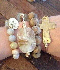 Bracelets - Collection of Stone, Pearl & Wooden on Etsy, $45.00