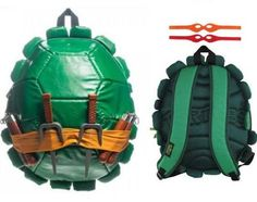 TMNT Backpacks - Forget buying this for our kids, we want these for our everyday treks. Who needs your nerdy shoulder and messenger bags when you've got Raphael's sai's and mask.