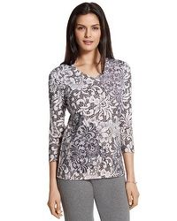 Zenergy Kelly Lace Print Top #chicossweeps