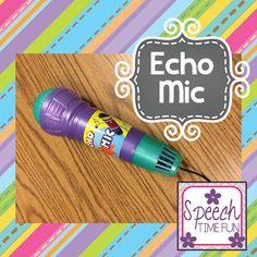 Speech Time Fun: Echo Mic Fun!! (tons of SLP ways to use this fun, cheap toy!)