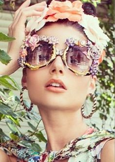 Mercura Floral Glasses
