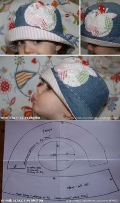 Baby Sewing Projects, Sewing For Kids, Sewing Tutorials, Hat Patterns To Sew, Baby Patterns, Sewing Patterns, Dresses Kids Girl, Kids Outfits, Sewing Baby Clothes