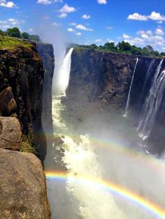 double rainbow at victoria falls zimbabwe inspires spring 2015 clothing for kids!