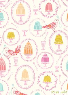jelly pattern and illustration by Bethan Janine