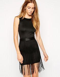 AX Paris Bodycon Dress with Tassels