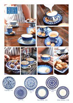 Bunzlau Castle    new decorations #blues #Mediterranean #urban #romantic #Polishpottery #pottery #tableware #home #bunzlau #BunzlauCastle #Stoneware #Bluekitchen #polishblue #Bunzlauservies #kitchen #textile #coffee #tea #teatime #dinner #blue #bake #baking #countrylife #bunzlaucastle #country #blue #blueandwhite #trendy #bohochic #home #handmade #tableware Blue Pottery, Ceramic Pottery, Blue Valentine, Blue And White Dinnerware, Mood Board Interior, China Plates, Polish Pottery, Hand Painted Ceramics, Ceramic Painting