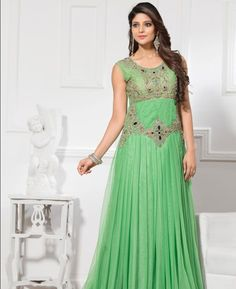 Buy Excellent Green Readymade Gown online at  https://www.a1designerwear.com/excellent-green-readymade-gown  Price: $113.77 USD