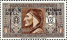 ALIGHIERI Dante Old Stamps, Rare Stamps, Postage Stamp Design, Postage Stamps, Stamp World, Dante Alighieri, Small Art, Tampons, Stamp Collecting