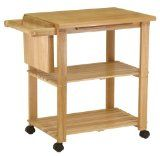 #10: Winsome Wood Utility Cart, Natural - http://ec2-184-73-123-235.compute-1.amazonaws.com/wordpress/10-winsome-wood-utility-cart-natural/
