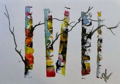 ACEO Original Watercolor Painting - by Watercolorist Jim Lagasse Watercolor Images, Watercolor Trees, Watercolor Landscape, Watercolor Paintings, Realism Artists, Watercolor Beginner, Birches, Birch Trees, Tree Art