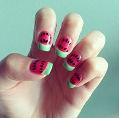 Paint your nails like your favorite Summer snack.
