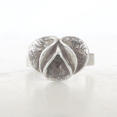 Theresia Hvorslev for Mema vintage silver flower ring | Sweden | 1978 by KoruJewelleryCo on Etsy