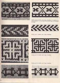 Stitch Patterns, Knitting Patterns, Beading Patterns, Crochet Patterns, Motif Fair Isle, Fair Isle Pattern, Knitting Charts, Free Knitting, Fair Isle Knitting