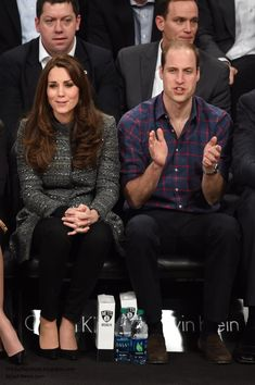 Duchesskate: Cambridges Visit to USA, December 8, 2014-The Duke and Duchess of Cambridge attended an NBA game for the Cleveland Cavaliers at the Brooklyn Nets