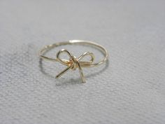 Wire Bow Ring by CailasCrafts on Etsy, $3.95