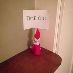Elf on the shelf time out