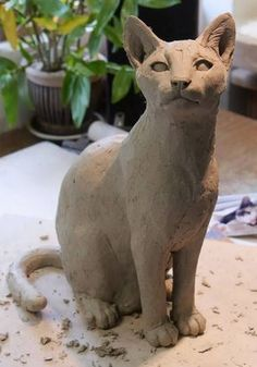Pet Cat Sculpture Commission