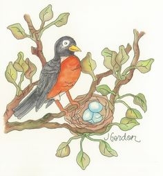 Sweet Robin by Jeanne Gordon. etsy site coming soon!
