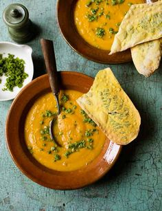 Roast pumpkin soup with pistachio pesto sprinkles | Soup doesn't get more autumn-y than this! From Linda Tubby this soups is sure to warm you right up on a chilly evening.