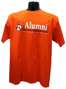 OSU Alumni w/Pete T-shirt  Show YOUR pride in this 100%cotton t-shirt. Features Pistol Pete with an Oklahoma State bar design.
