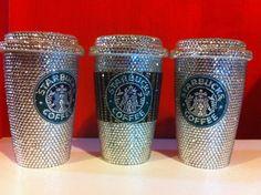 Swarovski crystal Starbucks mugs