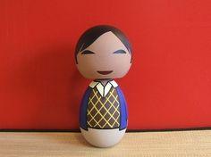Kokeshi Doll Big Bang Theory Raj Koothrappali by temple7e on Etsy, $35.00