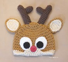 Repeat Crafter Me: Crochet Reindeer Antlers Pattern