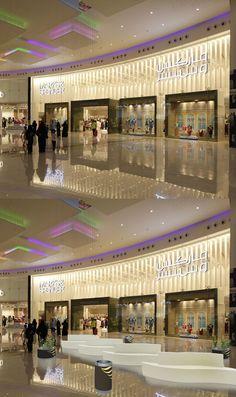 """Restyling  project shopping centre """"Al Nakheel Mall"""", Riyadh, Saudi Arabia by Tecnostudio."""